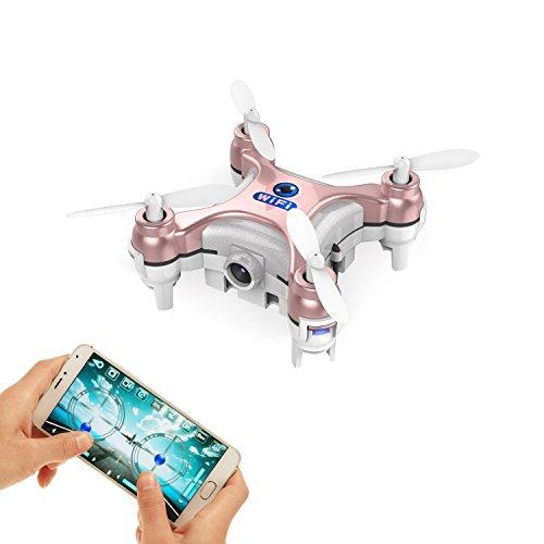 JSMeet El Drone FPV más pequeño con cámara Vídeo en Vivo APLICACIÓN iOS / Android Teléfono WiFi Control Remoto Mini Quadcopter Spy Drone Pocket Drone para Apple iPhone iPad Sumsung HTC