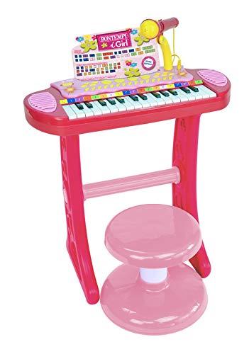 Bontempi igirl tastiera 31 tasti con microfono gambe e sgabello, 13 3671