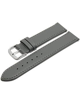 Meyhofer Uhrenarmband Bonn EASY-CLICK 16mm grau Leder abgenäht Made in Germany My2fcml2023