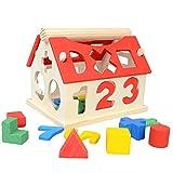 bausteine holz Geometrie Form Demontage Kombination Bausteine Digitale Erkenntnis Weisheit Haus Spielzeug baby