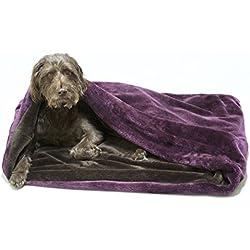 Snuggle saco/saco de dormir/Mascotas Cama para perros y gatos por Pet de Lola Ciruela y chocolate