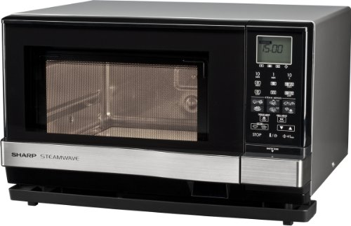 Sharp Electronics (Europe) AX1110INW Mikrowelle / 900 W / 27 L Garraum / 1100 W Grill / 910 W Dampfgenerator / silber