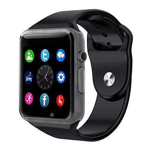 Bluetooth-Smartwatch-Soft-Armband-CHEREEKI-Sport-Armbanduhr-154-Zoll-LCD-Touchscreen-Smartwatch-Untersttzt-SIM-Karte-TF-Karte-mit-Schrittzhler-Kamera-Schlafmonitor-fr-Android-Smartphones