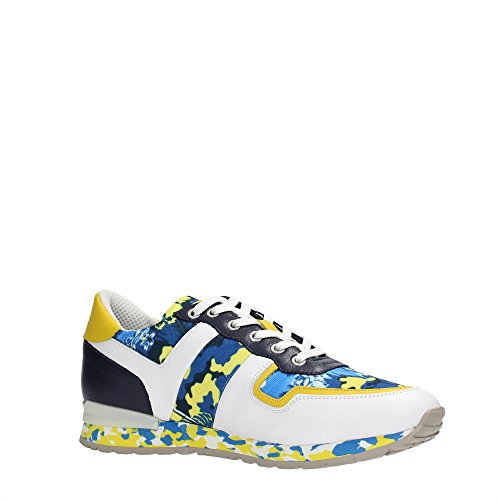 Bikkembergs BKE107908 Sneakers Homme White/Yellow Camouflage