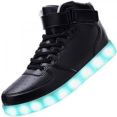 (Present:kleines Handtuch)Schwarz EU 38, Leuchtende Blinkende Led Freizeit Damen Farbwechsel Licht JUNGLEST® Sport Sneakers