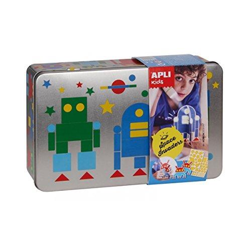 joc-de-gomets-per-creare-robot-caixa-metal-lica