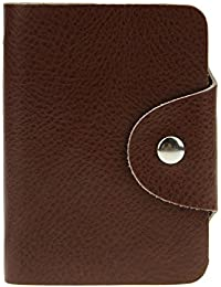 Soft Cowhide Leather Credit Card Holder Wallet Short Card Case With 26 Card Slots For Women Men By Jiahg
