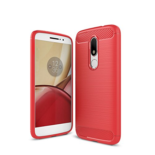 Preisvergleich Produktbild Moto G5 Hülle, IVSO Ultra Slim Silikon Rückseite Schutzhülle, mit Advanced Shock Absorption Technology hülle für Motorola Moto G5 Smartphone (Für Motorola Moto G5, Rot)