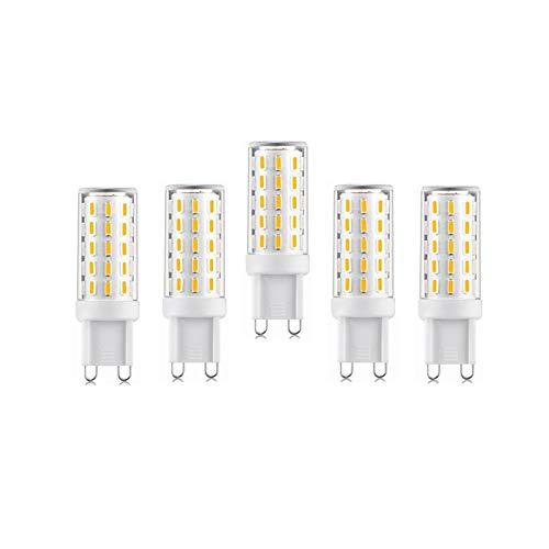 Inicio bombillas led No Flicker G9 Led Light Bulb AC110-240V 5W 54LEDs SMD 4014 LED Corn Bulb Lamp LED ad alta potenza Spotlight per Crystal Light 5-Pack Bombillas ( Emitting Color : Cold White )