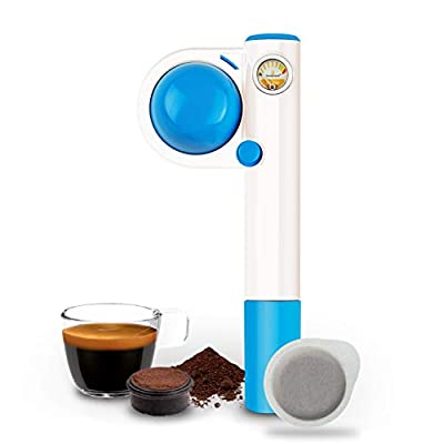 Handpresso Pump Pop for ESE Pods and Ground Coffee, Blue
