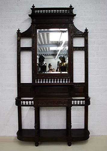 H. Packmor GmbH Garderobe im Jugendstil Eiche dunkel Antik Flurgarderobe 115 x 216 x 35 cm