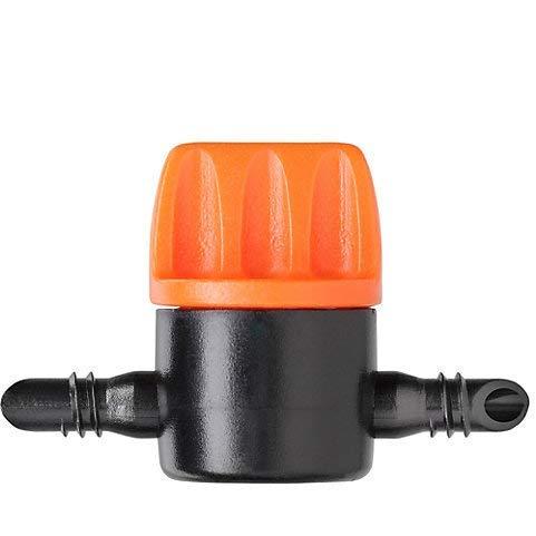 HW Products Claber Rainjet 1/4-Absperrventil, 5 Stück, Bereich: Regenstrahl, Material: Kunststoff, Anschlussart: Push-Fit, Breite 39 mm - Bereich Absperrventil
