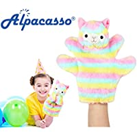Alpacasso 1 PCS Cute Plush Rainbow Alpaca Animal Hand Puppet Set,Soft Plush Finger Dolls Animal Toys. (Rainbow Hand Puppet) - Peluches y Puzzles precios baratos