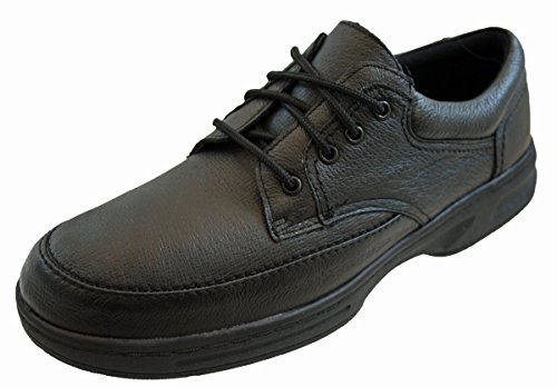 En cuir véritable pour homme Coupe large pour un confort ultra léger et chaussures Noir ou marron Par Dr Keller