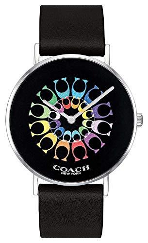 Coach | orologio da donna perry | quadrante nero cinturino in pelle nera |...