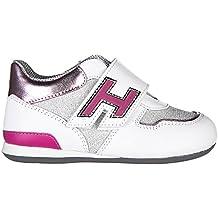 Hogan Scarpe Sneakers Bimba Bambina Pelle Nuove Olympia Argento