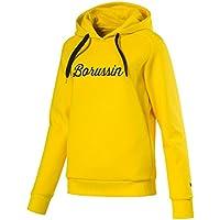 Puma BVB WMS Fan Sudadera con capucha, primavera/verano, unisex, color Cyber Yellow, tamaño extra-small