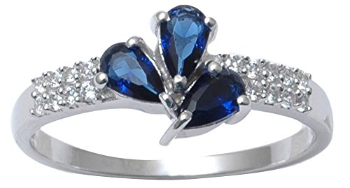 Banithani 925 Sterlingsilber Charme London Blautopas Steinring Frauen Fashion Schmuck
