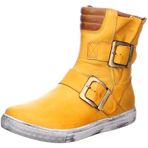 Andrea Conti Damen 0346833 Biker Boots Gelb (Ocker/Braun 475) 40 EU