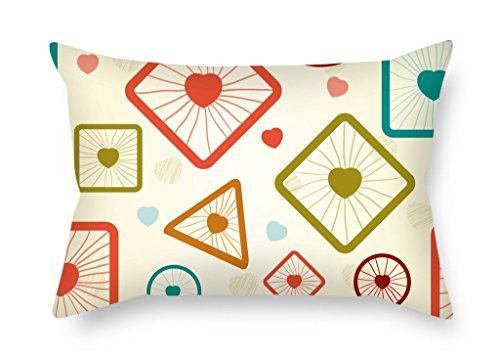 masoyy 16x 24pulgadas/40por 60cm geometría fundas de almohada, doble lados es compatible...