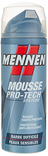 MENNEN - Mousse à raser - PRO TECH Barbe Difficile - 250ml