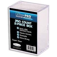 UltraPro 81148 - Caja para cartas 250 cartas coleccionables (2 unidades), transparente
