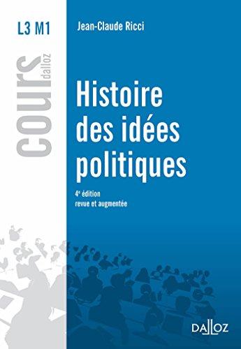 Histoire des ides politiques - 4e d.