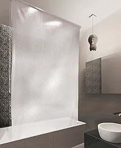 halb kassetten duschrollo duschvorhang peva 160 breite x 240 cm h he modell milky drops. Black Bedroom Furniture Sets. Home Design Ideas