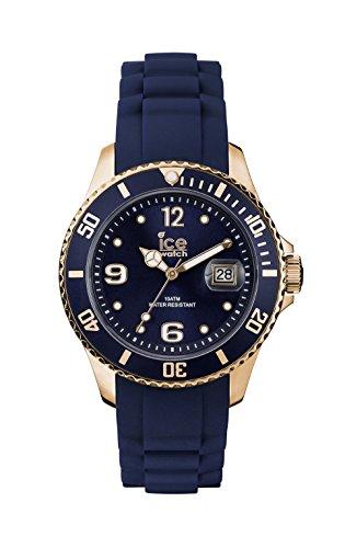 Ice-Watch - Ice Style Dark Night - Blaue Damenuhr mit Silikonarmband - 000935 (Medium)