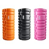 Protone trigger point foam roller with grid trigger point zones for deep massage/rehab / physiotherapy/crossfit / running/marathon / yoga/pilates - choose colours(orange)