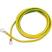AS-Schwabe 70869 H07V-K 16 - Cable de toma de tierra (3 m, IP20), color verde y amarillo
