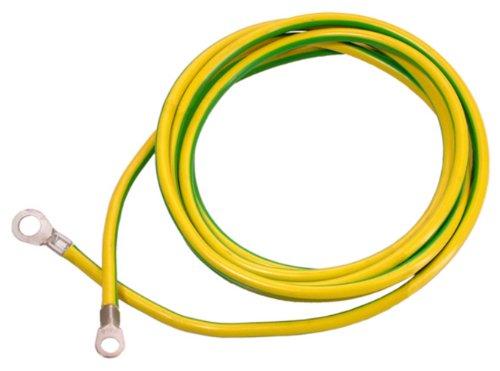 as - Schwabe 70869 Erdungskabel, 3m H07V-K 16, grün / gelb, Baustelle