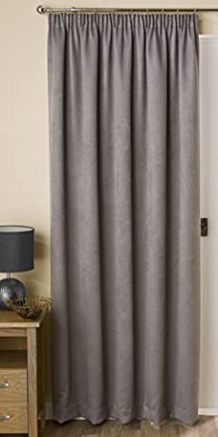 Hamilton McBride Belvedere Blackout Pewter Lined Single Door Curtain 66x84in(167x213cm) Approx