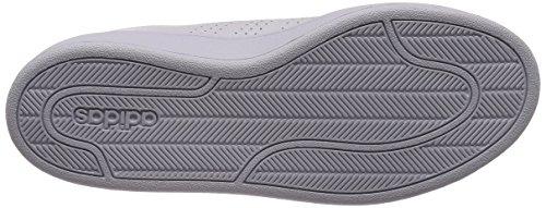 adidas Cloudfoam Advantage Clean, Sneaker Uomo Bianco (Footwear White/footwear White/green 0)