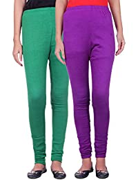 Belmarsh Warm Leggings - Pack of 2 (Green_Purple)