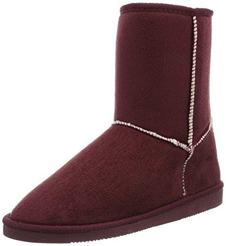 Canadians Boots, Bottes mi-hauteur avec doublure chaude femme Rouge - Rot (840 BORDEAUX)