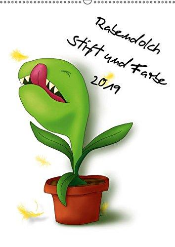 Rabendolch Stift und Farbe 2019 (Wandkalender 2019 DIN A2 hoch): 12 bunte Zeichnungen der Berliner Künstlerin Rabendolch (Monatskalender, 14 Seiten ) (CALVENDO Kunst)