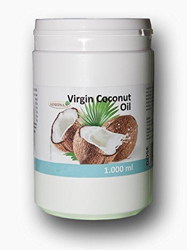 KOKOSÖL KOKOSFETT VIRGIN COCONUT OIL 7 x 1 LITER Kokosnussöl VCO Massageöl Kokos Massage ÖL -