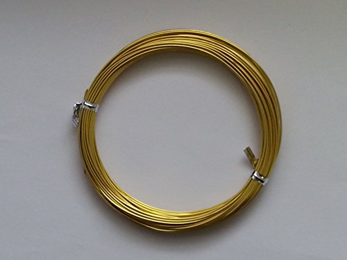 10 metros 1 mm cable aluminio - dorado - C0189