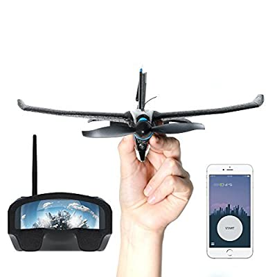 TobyRich SmartPlane Pro FPV: Smartphone App Controlled VR Stunt Plane - Remote Virtual Reality Drone for iOS and Android