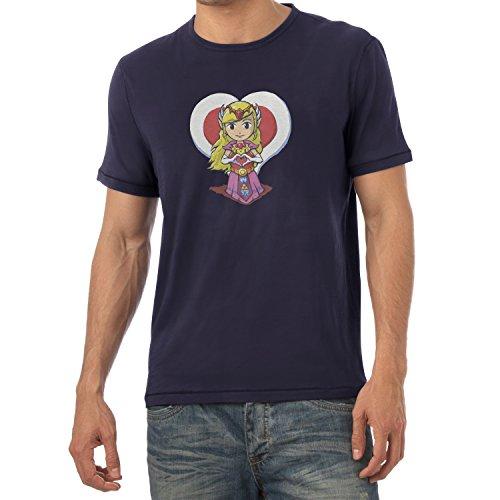 TEXLAB - Princess Love - Herren T-Shirt Navy
