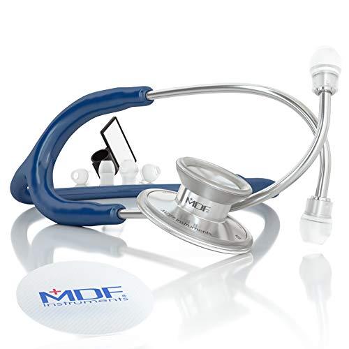 MDF® Acoustica luxuriöses, leichtes Zweikopf-Stethoskop - Marineblau