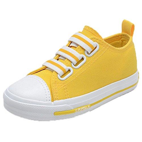 Ohmais Enfants Filles Garçon Chaussure de loisir chaussure de sport souliers Jaune