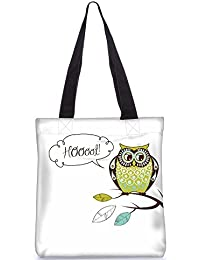 Snoogg Tote Bag 13.5 X 15 Inches Shopping Utility Tote Bag Made From Polyester Canvas - B01GCILYXA