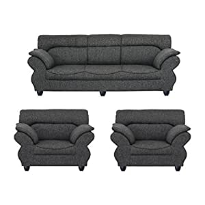 Bharat lifestyle bls 107 five seater sofa set 3 1 1 grey for 9 seater sofa set