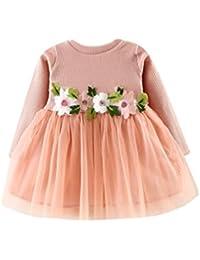 Vestito dalla principessa del manicotto lungo Tutu floreale della neonata  sveglia del bambino Rawdah b521e9a7995