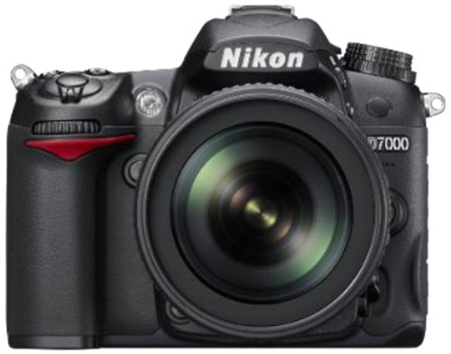Nikon D7000 16.2MP Digital SLR Camera (Black) with AF-S 18-105mm VR Kit Lens and AF-S NIKKOR 50mm f/1.8G Twin Lens 4GB Card, Camera Bag