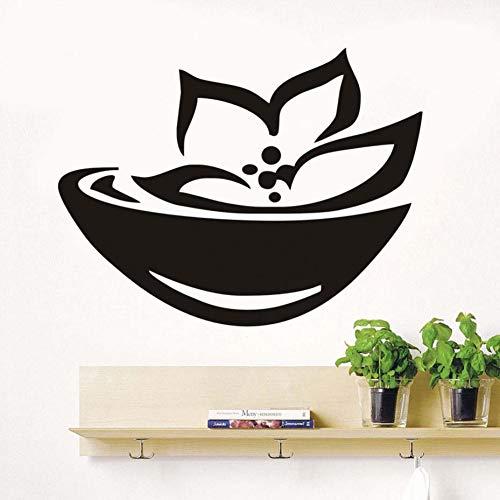 HYLCH Wandaufkleber Asian Spa Zeichen Und Symbol Wandaufkleber Lotus Blumen Vinyl Wohnzimmer Wandtattoos Wohnkultur Removable Wallpaper - Symbol Spas