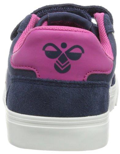 hummel STADIL JR CANVAS LOW 63-633-7644 Unisex-Kinder Sneaker Blau (BLUE NIGHTS/RASPBERRY)