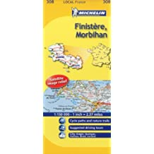 Michelin Map France: Finistre, Morbihan 308 (Maps/Local (Michelin)) (English and French Edition) by Michelin (2011-01-16)